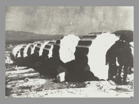 Le corbusier, Ruines d'une colonne sur le côté gauche du Parthénon, 1911 - LA MEMOIRE envoyée par H.