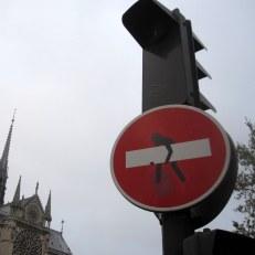 Clet à Notre Dame