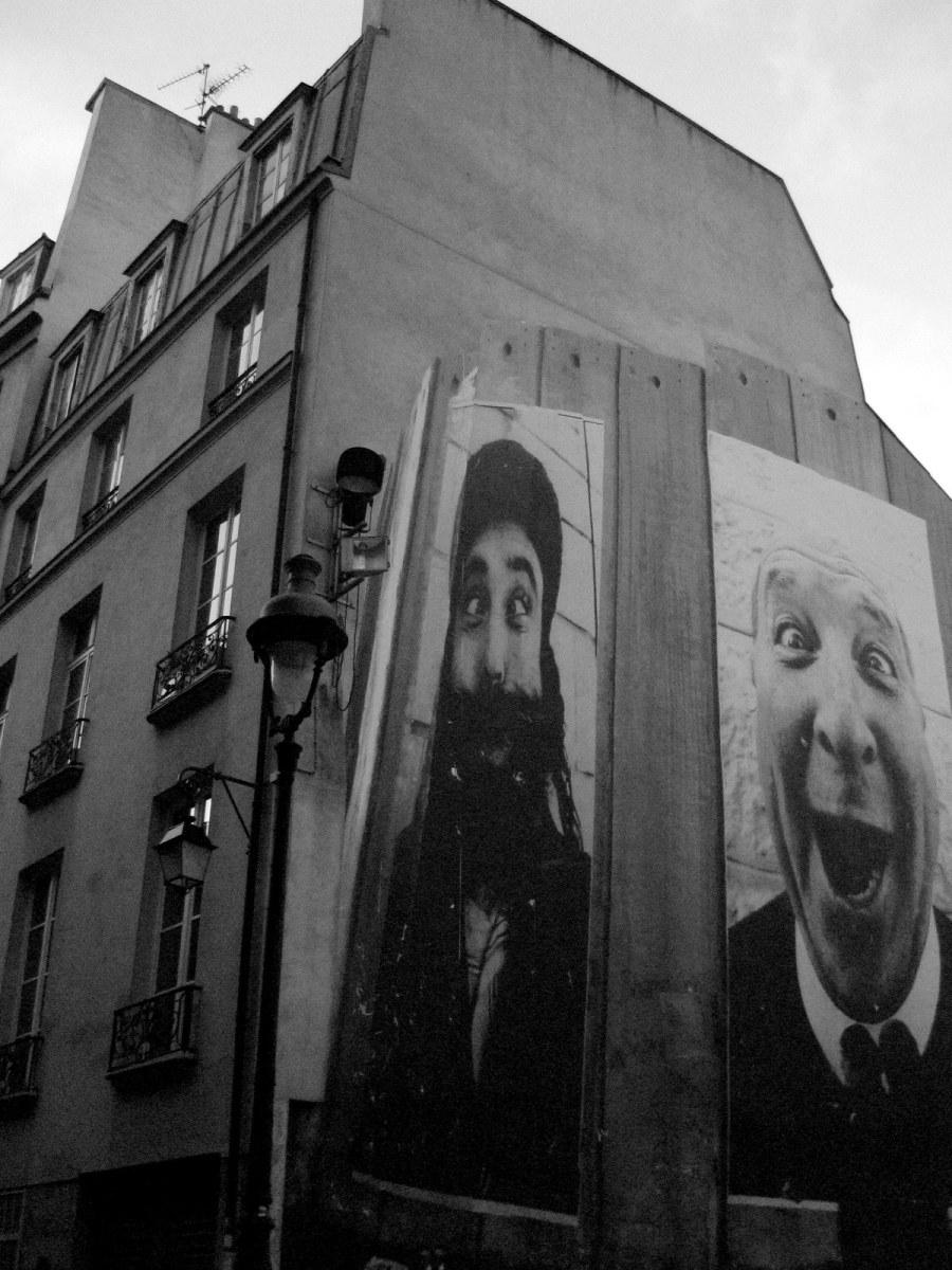 face 2 face © JR - place de la Fontaine Stravinsky