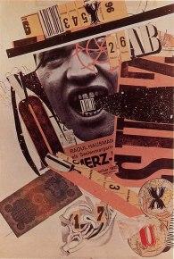 © Raoul Hausmann - abcd, autoportrait, collage et encre de chine sur papier 1923-1924